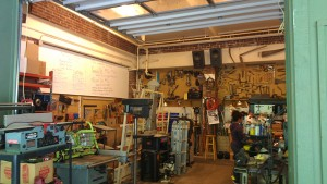 The tool library workshop space