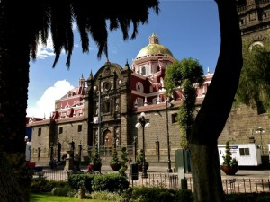 Puebla's picturesque Cathedral, located on the city's the main square