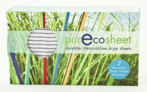 PurEcoSheet - no more chemicals in dryer sheets for us!