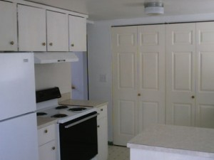 A fourplex kitchen -- look at all the things that can break!